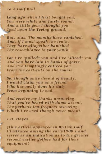 Golf Poem